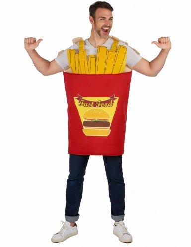 Disfraz caja de patatas fritas para adulto
