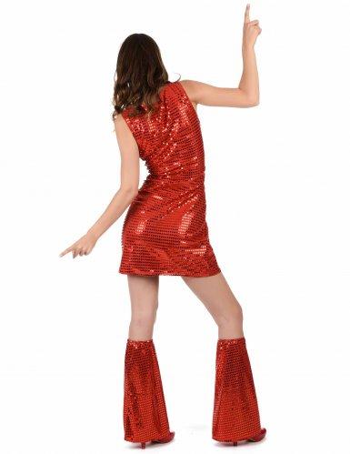 Disfraz disco rojo con lentejuelas para mujer-2
