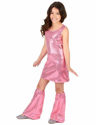 Disfraz disco rosa con lentejuelas niña-1