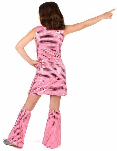 Disfraz disco rosa con lentejuelas niña-2