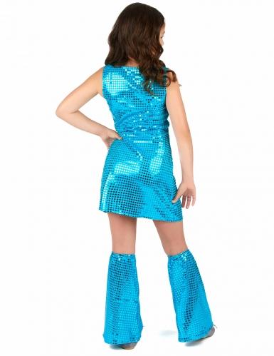 Disfraz disco turquesa con lentejuelas niña-2