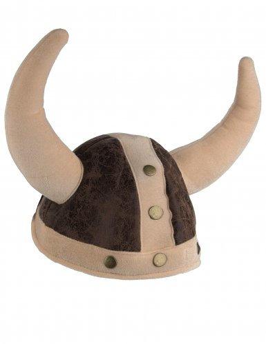 casco vikingo marrón flexible adulto