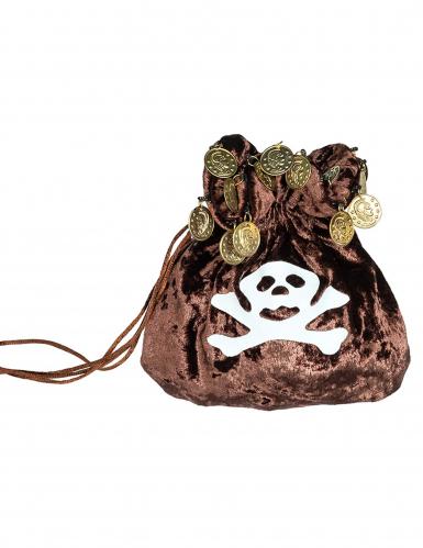 Saco de monedas pirata adulto 23 cm