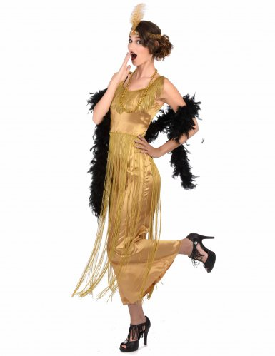 Disfraz Charlestón dorado con flecos mujer-1