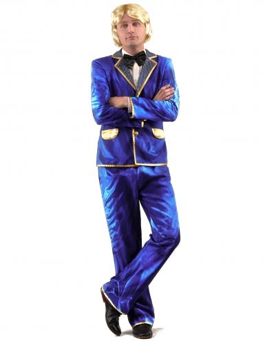 Disfraz disco brillante azul hombre-1