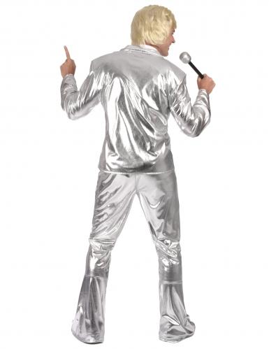 Disfraz Disco plateado brillante hombre-2