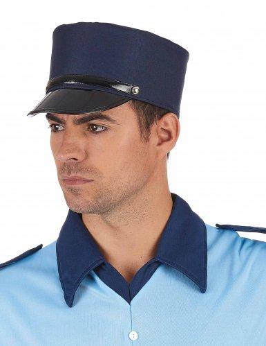 Gorro azul gendarme adulto-1