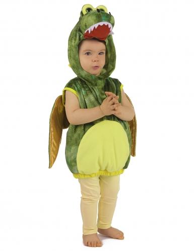 Disfraz de dinosaurio verde niño-3