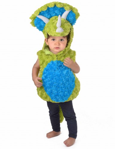 Disfraz dinosaurio verde y azul niño-4