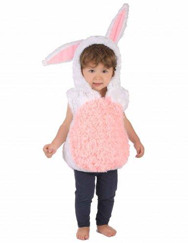 Disfraz conejo blanco y rosa niño