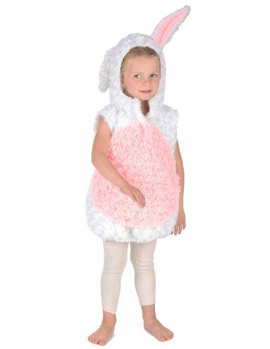 Disfraz conejo blanco y rosa niño-4