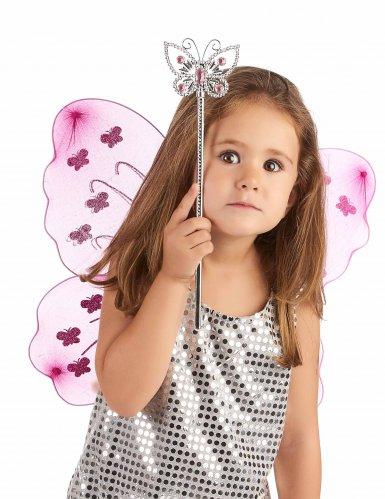 Varita mágica mariposa rosa adulto y niña-1