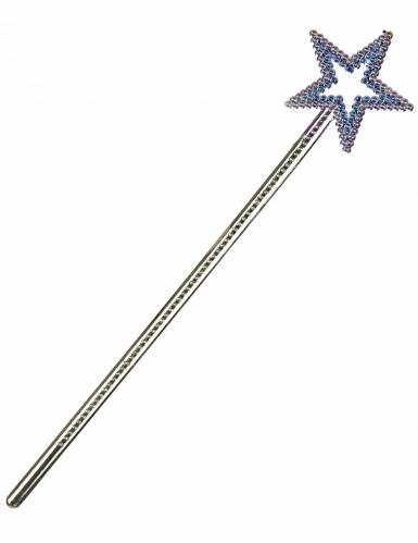 Varita mágica estrella azul adulto y niño
