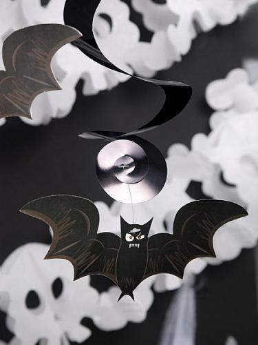 5 decoraciones colgantes espirales Halloween 60 cm-1