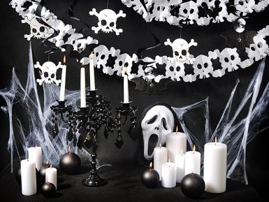 5 decoraciones colgantes espirales Halloween 60 cm-2