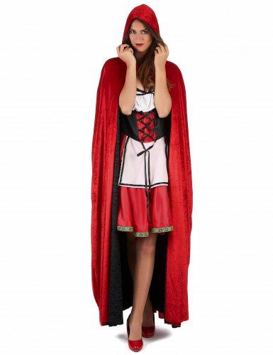 Capa vampiro terciopelo rojo y negro reversible lujo adulto-1