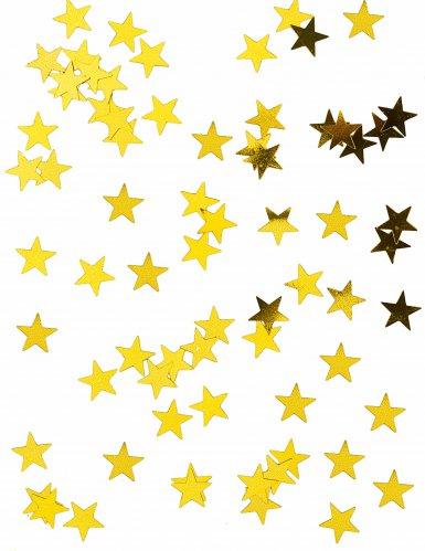 Confetis estrellas metálicas oro 50 gramos
