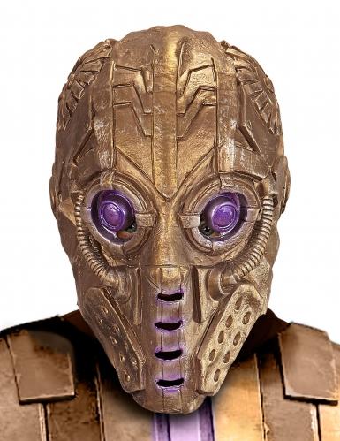 Máscara robot dorado adulto