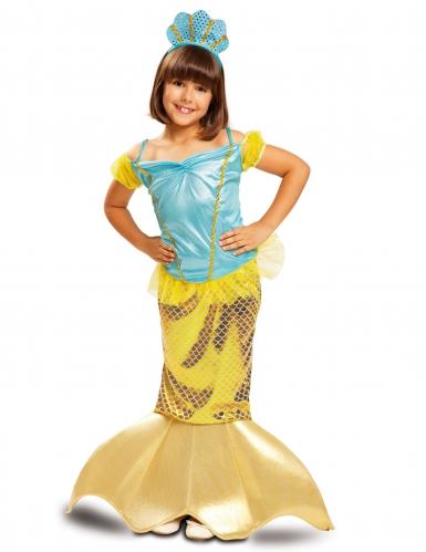 Disfraz sirena dorada niña
