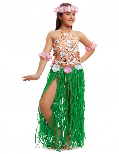 Disfraz hawaiana para niña