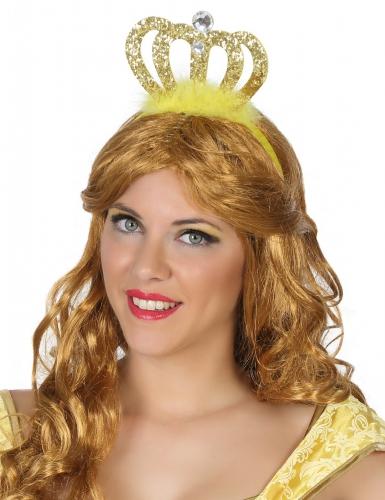 Diadema princesa dorada adulto