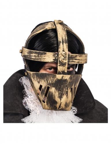 Máscara de prisionero dorada adulto