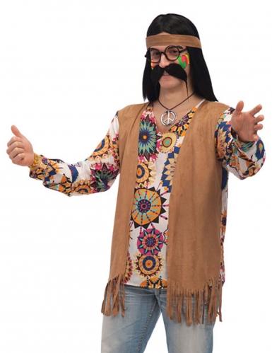 Disfraz hippie marrón hombre