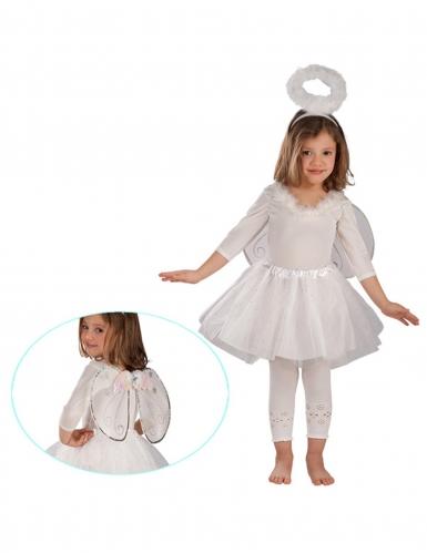 Kit ángel blanco y plateado niña