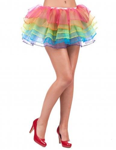 Tutu enaguas multicolor adulto