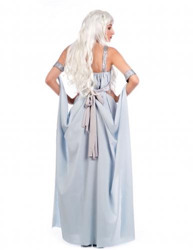 Disfraz vestido de princesa azul mujer-1