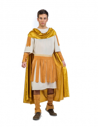 Disfraz emperador romano dorado hombre