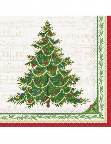 16 Servilletas de papel árbol de Navidad 33x33 cm