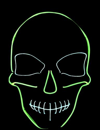 Máscara neón esqueleto