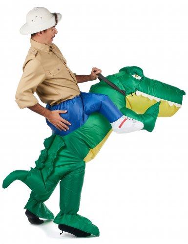 Disfraz cocodrilo inflable adulto-2