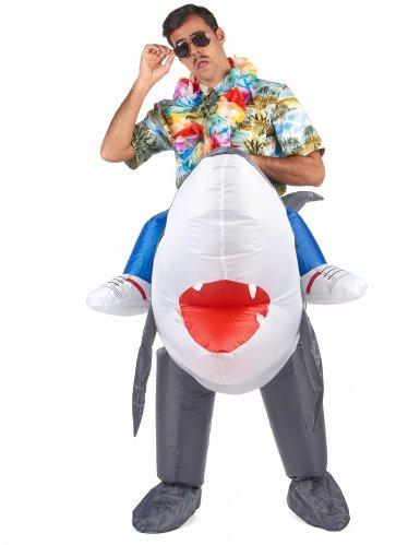 Disfraz tiburón inflable adulto-1