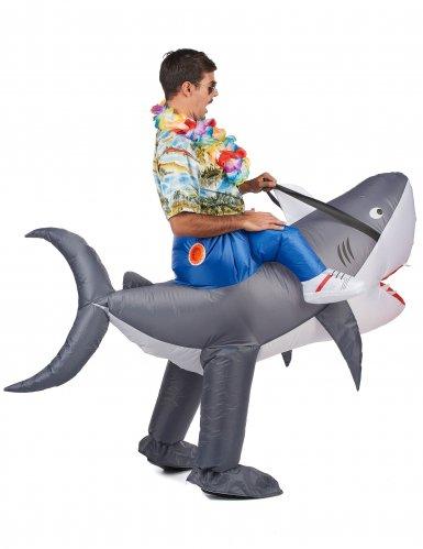 Disfraz tiburón inflable adulto-2