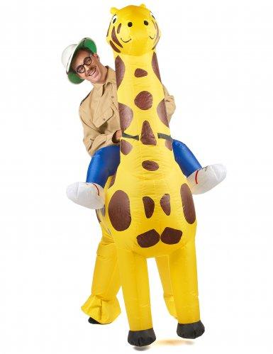 Disfraz jirafa inflable adulto-1