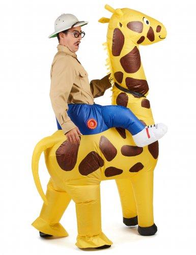 Disfraz jirafa inflable adulto-2