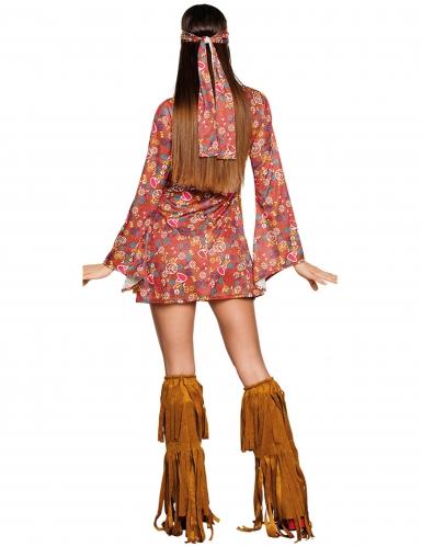 Disfraz hippie Peace con flecos mujer-1