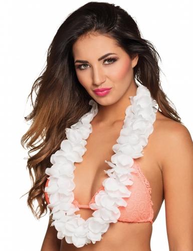 Collar Hawai blanco lujo