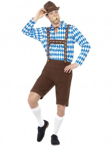 Disfraz bávaro azul y marrón adulto