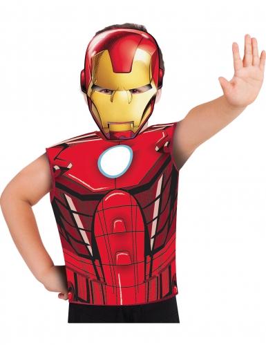 Camiseta y máscara Iron Man™ niño