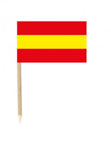 Lote de 50 palillos mini banderas España 3x5 cm