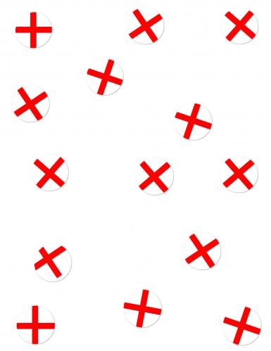 150 Confetis de mesa Bandera Inglaterra
