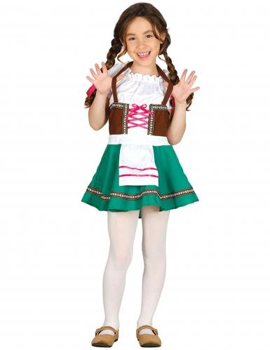 disfraz de bávara niña