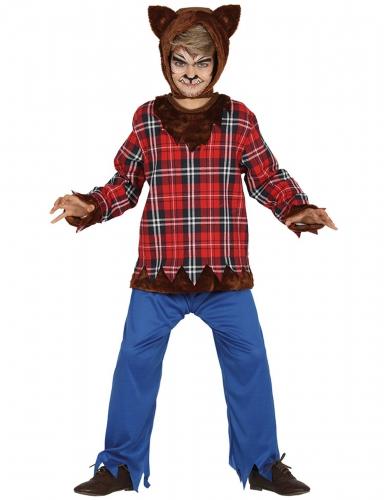 Disfraz lobo del campus niño Halloween