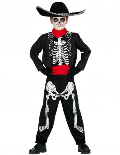 Disfraz esqueleto Día de los muertos niño