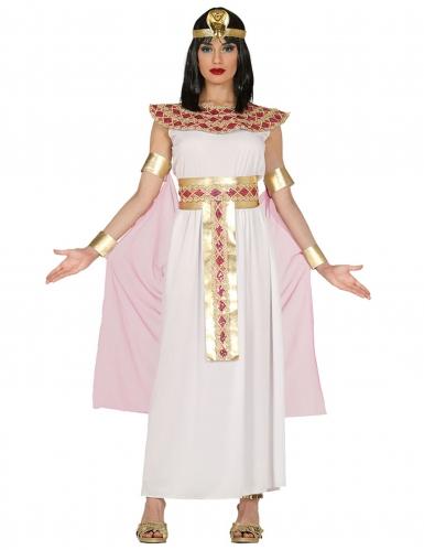 Disfraz de egipcia rosa y dorado mujer