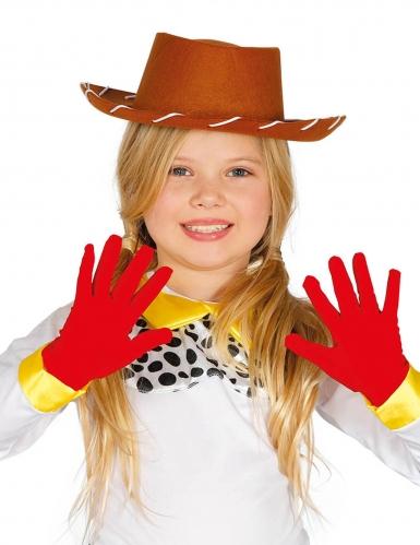 Guantes cortos rojos niño