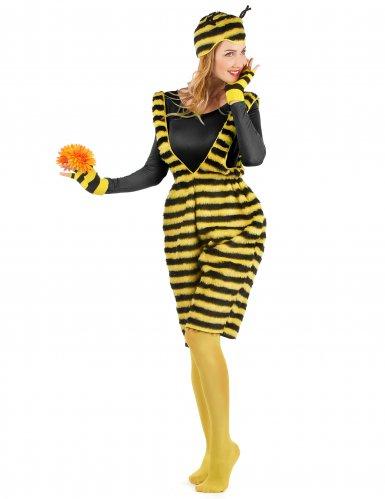 Disfraz mono peluche abeja adulto-1